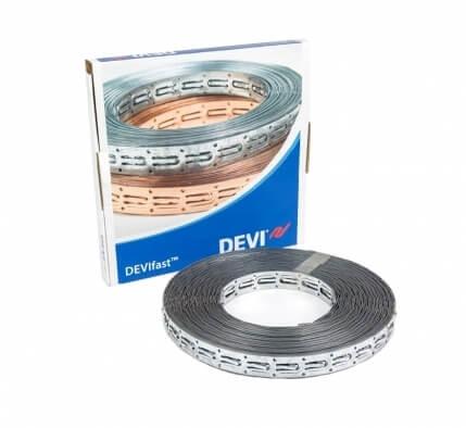 19808236 | Оцинкованная стальная монтажная лента DEVlfast для крепления кабеля, 25 м.